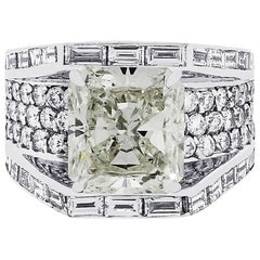 7.02 Carat Radiant Cut Diamond Ring