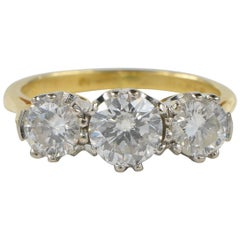 Art Deco 1.30 Carat Diamond Trilogy Ring