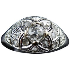 Stunning Art Deco Engagement Ring, French, Platinium and Diamonds, circa 1920