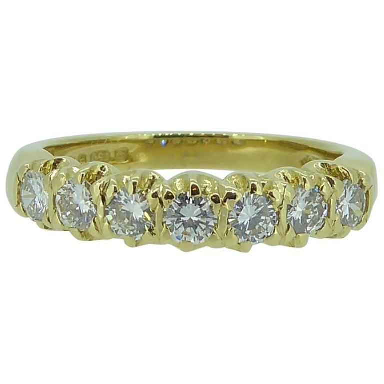Vintage 0.75 Carat Diamond Eternity Ring, 18 Carat Yellow Gold Band