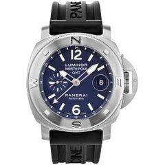 Panerai stainless steel Luminor North Pole GMT Ltd Ed automatic Wristwatch