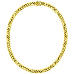 Heavy 18 Karat Yellow Gold Necklace by Gubelin