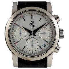 Girard Perregaux White Gold Ferrari Chronograph automatic wristwatch ref 8020