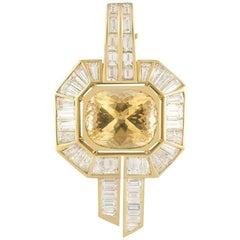 Adler Diamond and Citrine Pendant