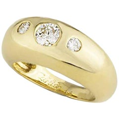 Cartier Yellow Gold Diamond Band Ring