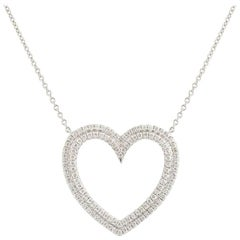 Tiffany & Co. Diamond Metro Heart Pendant