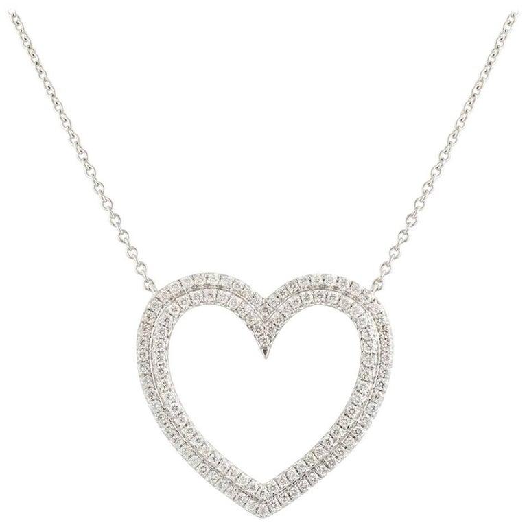 Tiffany & Co. Diamond Metro Heart Pendant