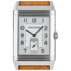 Jaeger LeCoultre Stainless Steel Reverso Day and Night Dial manual wristwatch