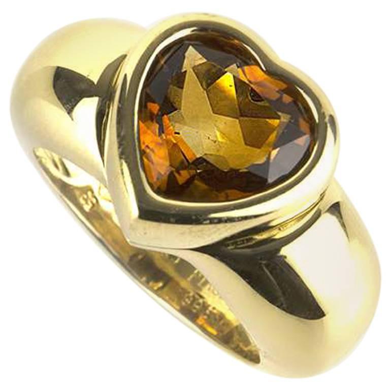 Piaget Yellow Gold Citrine Ring