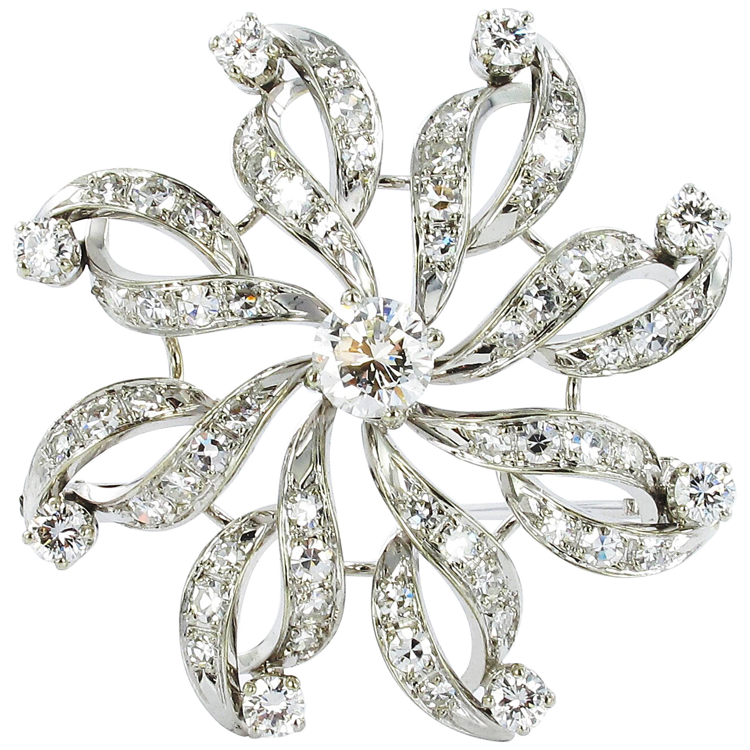 Gübelin Diamond Brooch