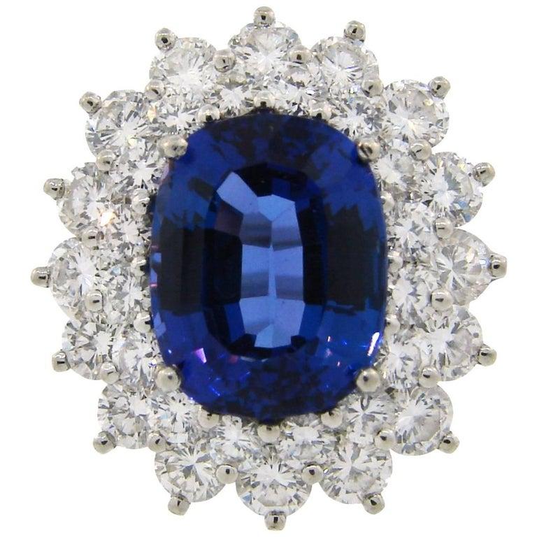 Tiffany & Co. 3.69 Carat Tanzanite Diamond Platinum Ring