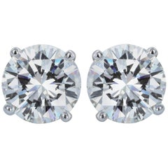 8.03 GIA Certified Diamond Stud Earrings