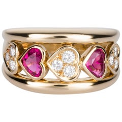 Van Cleef & Arpels Tourmaline and Diamond Band Ring