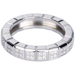 Chopard 'Ice Cube' Collection 18 Karat White Gold Diamond Band Ring