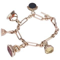 Fob & Seal 9 Karat Rose Gold Charm Bracelet