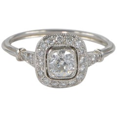 Art Deco 1.05 Carat Diamond Platinum Ring