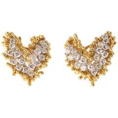 Kurt Wayne Diamond Gold Earrings