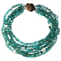 Seven Strand Apatite Necklace