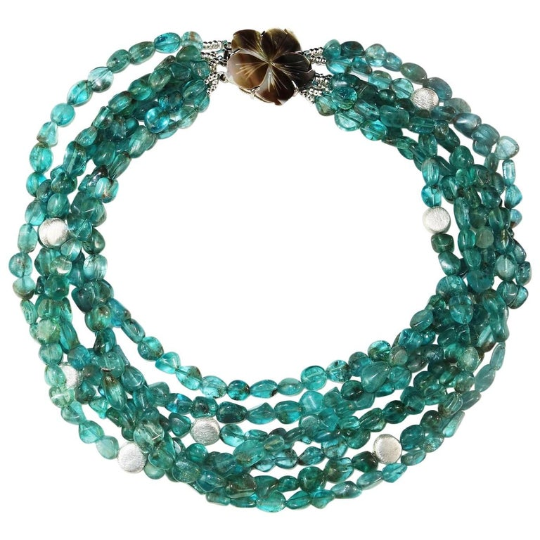 Seven Strand Apatite Necklace