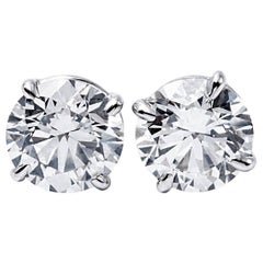 Diamond Stud Earrings 6.21 Carats
