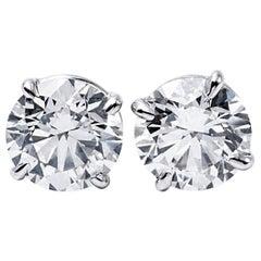 Diamond Stud Earrings 6.15 Carat
