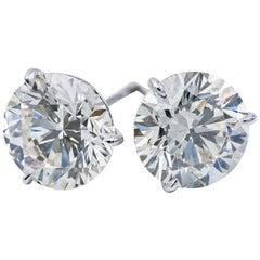 Diamond Studs 3.09 Carat