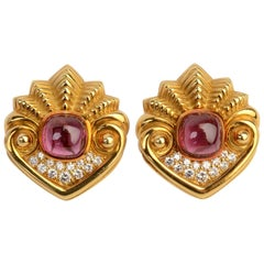 SeidenGang Gold Rubelite Earrings