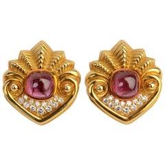 SeidenGang Gold Rubelite Earrings