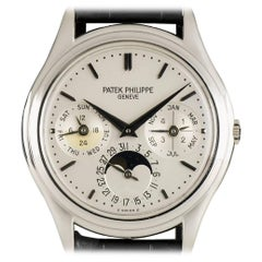 Patek Philippe Platinum Perpetual Calendar Automatic Wristwatch Ref 3940P