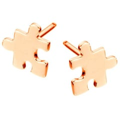 Akillis Mini Puzzle Earrings 18 Karat Rose Gold