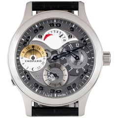 Chopard Stainless Steel Regulateur Steel Grey Semi-Skeleton Manual Wristwatch