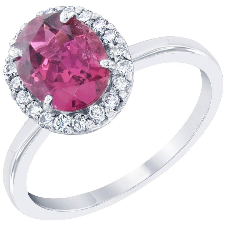 2.01 Carat Tourmaline Diamond Cocktail Ring