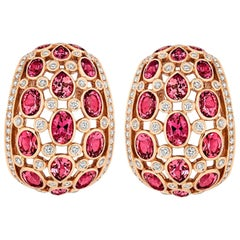 Tivon Fine Jewelry Pink Tourmaline and Diamond Earrings