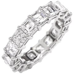 21st Century Platinum Square-Cut Diamond Eternity Band Ring