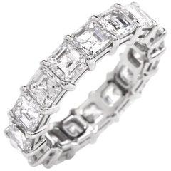 21st Century Platinum Square-Cut Diamond Eternity Band Ring