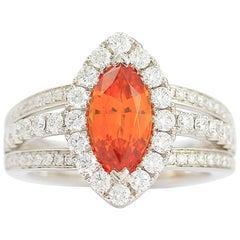 Frederic Sage 2.12 Marqi Spessertite Diamond Cocktail Ring