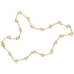 Asprey & Garrard Gold Diamond Whisper Necklace