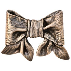 1960s James Avery Sterling Silver Bow Brooch