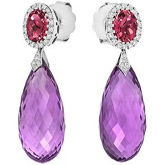 Tivon Fine Jewelry Monte Carlo Earrings with Diamonds and Gems