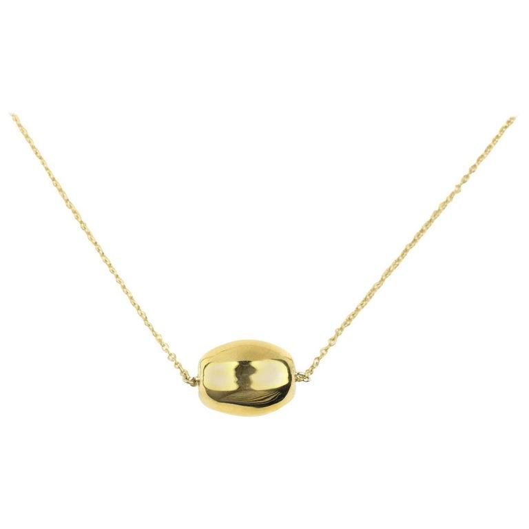 Julius Cohen Gold Melon Bead Necklace