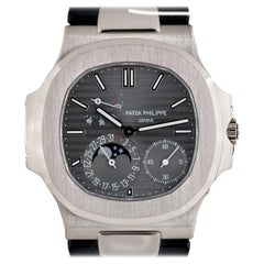 Patek Philippe White Gold Power Reserve Moonphase Nautilus automatic wristwatch