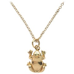 Julius Cohen Gold Frog Charm Necklace