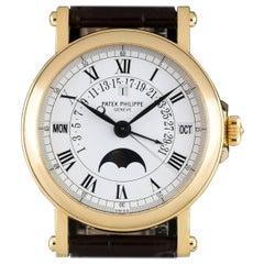 Patek Philippe yellow gold Perpetual Calendar Retrograde automatic wristwatch