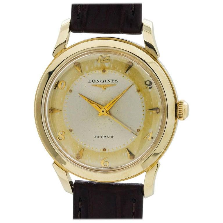 Longines Gold Oversize Automatic wristwatch, circa 1950s