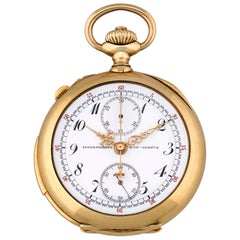 Patek Philippe Yellow Gold Minute Repeater Split Second Chronograph Pocket Watch