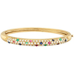 Diamond and Gemstone Bangle by Van Cleef & Arpels
