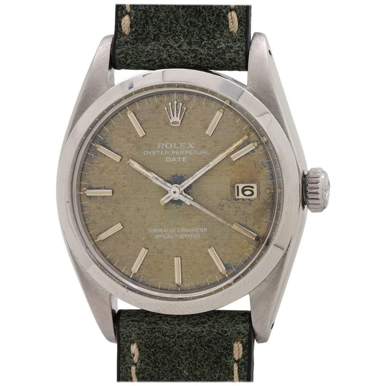 Rolex Stainless Steel Oyster Perpetual Date Self Winding Wristwatch, circa 1966