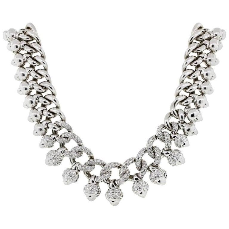 Pave Diamond Collar Necklace