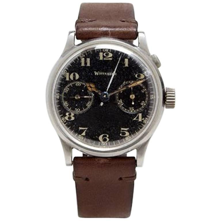 Wittnauer stainless steel Single Button Chronograph Wristwatch