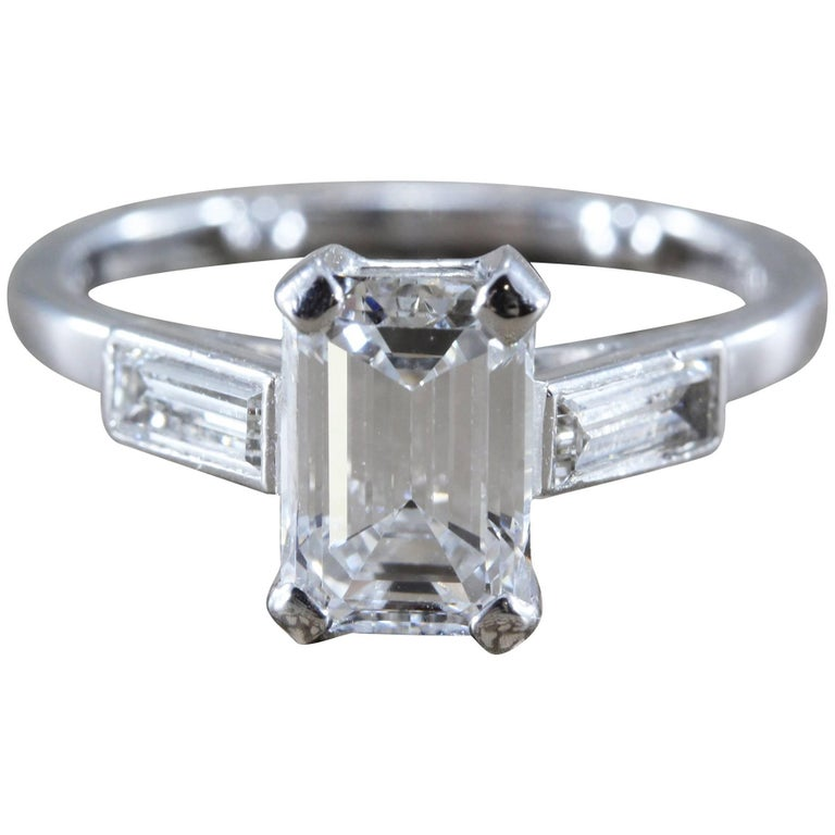 harry winston 1 38 carat emerald cut e vs1 gold